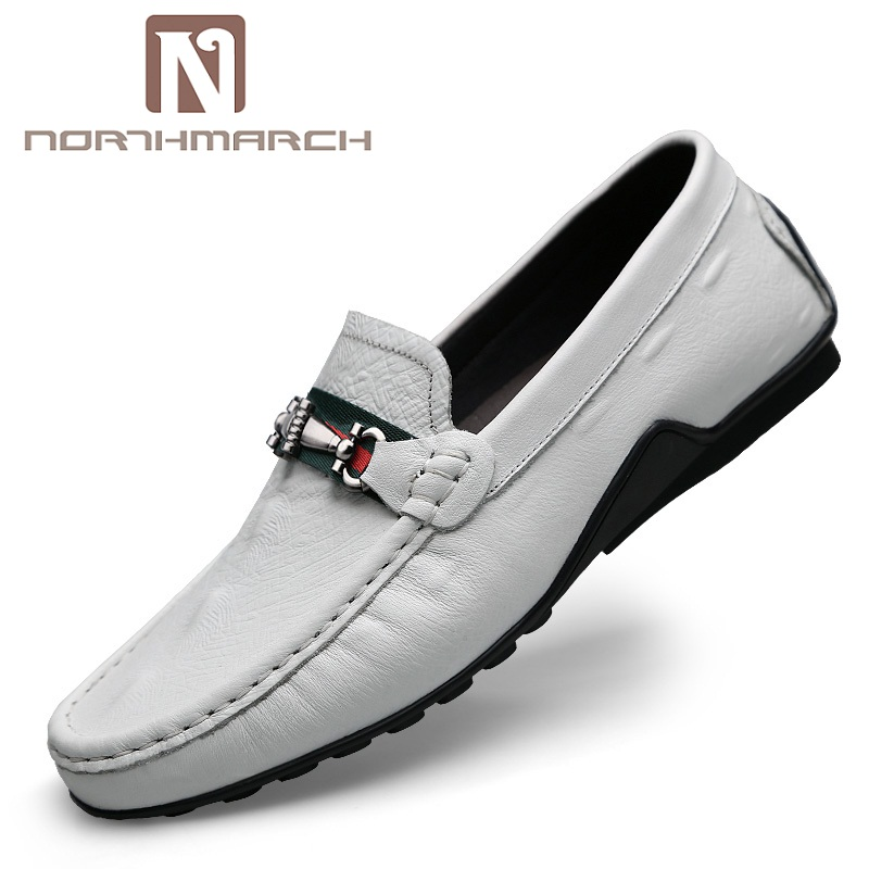 NORTHMARCH Men Shoes Leather Genuine Luxury Designer Slip On Mens Loafer Shoes Italian Brand Dress Shoes Men Moccasins sinoextreme italian leather handmade crocodile embossed men loafer shoes leisure shoes slip on shoe luxury breathable men shoes