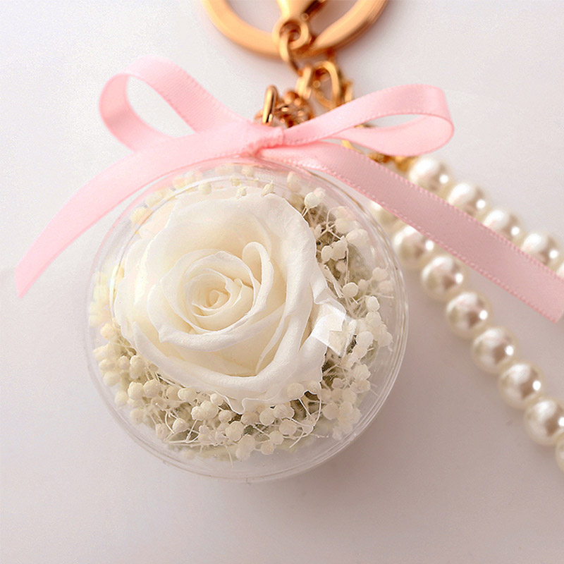 Романтический рождественский подарок для женщин вечные подвески в форме роз украшение автомобиля цветы сушеные цветы Висячие для сумки/брелок - Цвет: 06