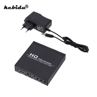 Volle HD 1080P SCART HDMI-kompatibel zu HDMI-kompatibel Konverter Digital Video Converter EU/US-Power stecker Adapter Für HDTV HD