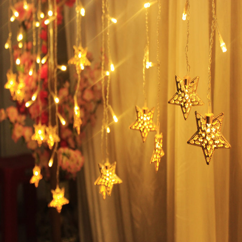 starry string lights led star lights 35m ice lantern new year christmas lights flashing indoor luxury wedding decoration lamp in lighting strings from