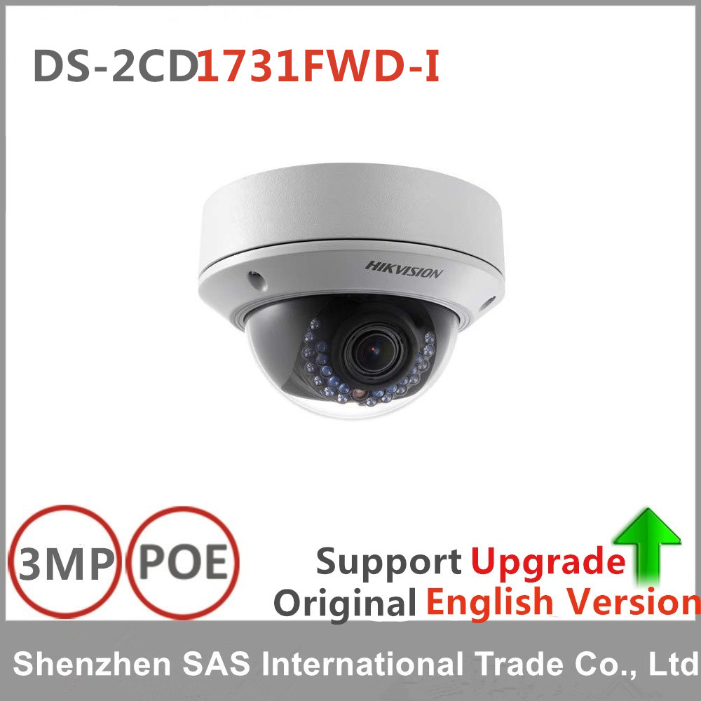 Hikvision English version DS-2CD1731FWD-I replace DS-2CD2735F-IS 3MP dome IP Camera POE cctv camera varifocal lens 2.8-12mm