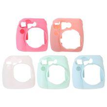 Silicone Mềm In Túi Đựng Sữa Ong Chúa Ốp Lưng Da Dành Cho Máy Ảnh Chụp Lấy Ngay Fujifilm Instax Mini 8/8 +/9