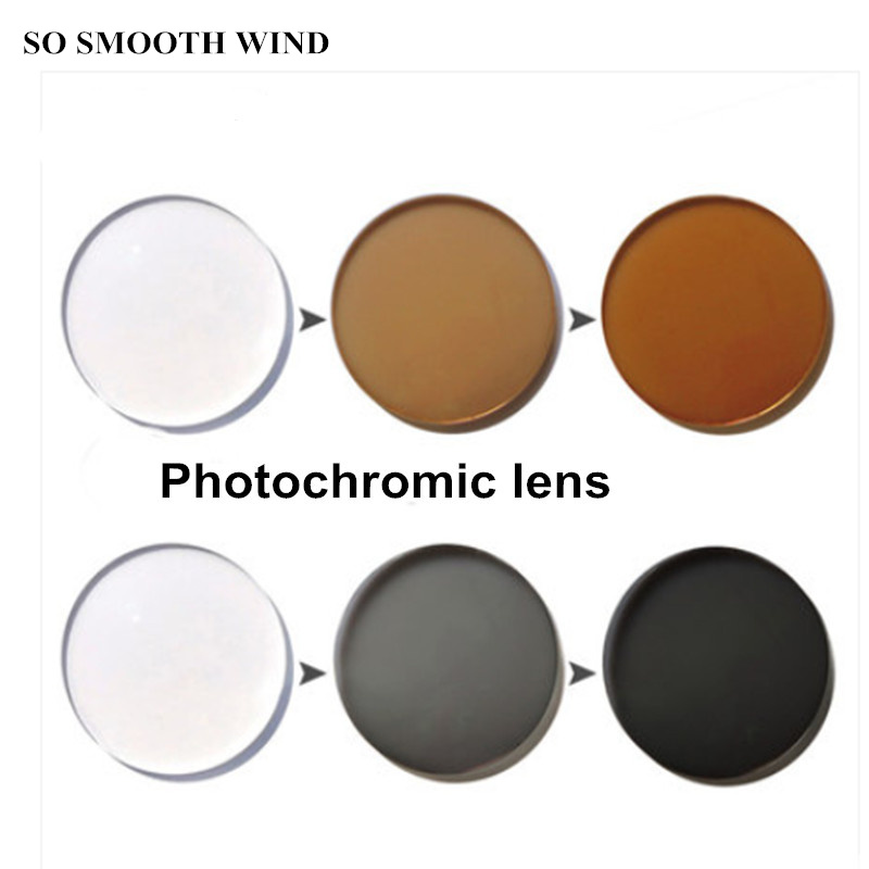Photochromic Lenses 1.56 1.61 1.67 Index Lens Change The Color On The Sun Colored Lenses For Eyes The Grey And Tea For 2 Pcs