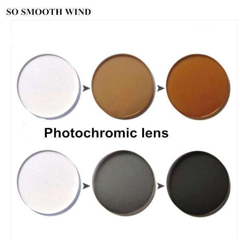 Verres photochromiques 1.56 1.61 1.67 indice changer la couleur sur le soleil lentilles de couleur pour les yeux gris et thé pour 2 pièces