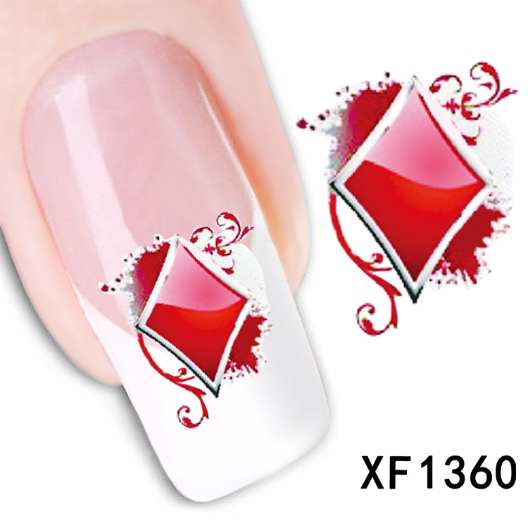 1 Sheet watermark flowers nail stickers nail stickers nail jewelry nail Wholesale XF1360