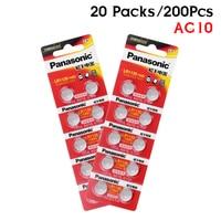 200pcs/lot 100% Original Panasonic 1.5V Cell Battery AG10 389 LR54 SR54 SR1130W 189 LR1130 AG10 LR1130 Alkaline Button Coin