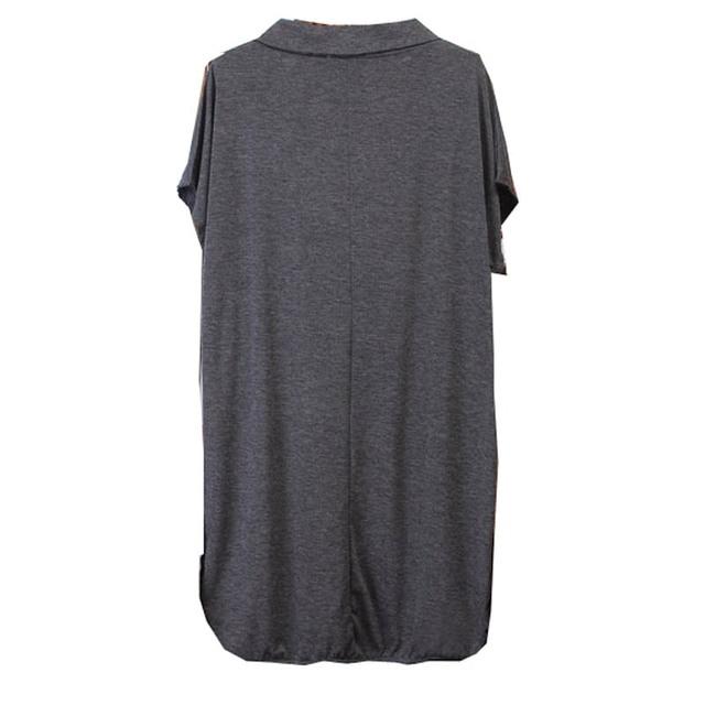 150Kg Plus size women's summer loose batwing short sleeve long T-shirt bust 156cm 5XL 6XL 7XL 8XL 9XL 10XL V-neck modal top 6