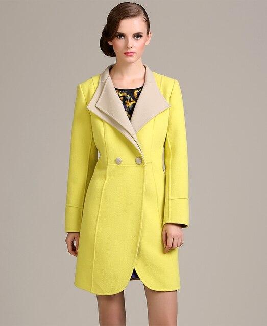 eea6f1843ed Marca italiana mujeres para mujer de la chaqueta larga trench coat doble de  pecho para mujer