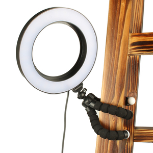 Image 5 - LED Selfie Ring Light Dimmable With Cradle Head Mini Flexible Sponge Octopus Tripod Stand For Makeup Video Live Studio Photograp