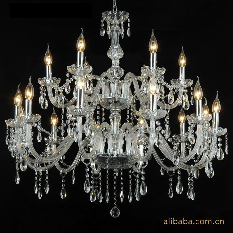 Crystal Chandeliers For A Luxury Hotel In Italy: Modern Led Chandelier Simple And Clear Light K9 Crystal