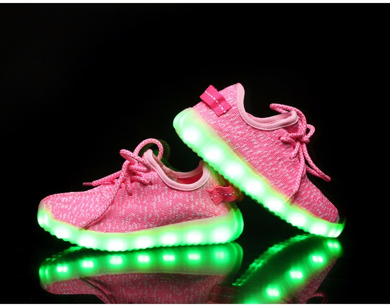 2016 NEW Children Luminous Sneakers USB Charging Kids LED Luminous Shoes Boys Girls of Colorful Flashing Lights Sneakers (8)