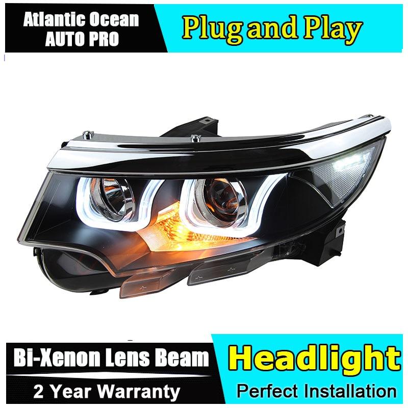 Auto.Pro Car Styling for Ford EDGE Headlights EDGE LIMITED LED Headlight DRL Lens Double Beam HID KIT Xenon bi xenon lens hireno headlamp for 2016 hyundai elantra headlight assembly led drl angel lens double beam hid xenon 2pcs