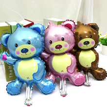 5 pcs Baby shower ballons Lovely Baby bear baby boy girl foil balloons air inflatable ball birthday party decorations