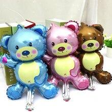 5pcs Cartoon Baby Shower Ballons Lovely Baby Bear Baby Boy Girl Foil Balloons Air Inflatable Ball