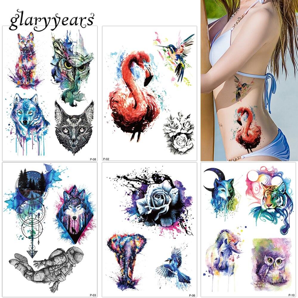 Glaryyears 25 Projetos 1 Folha De Desenho Colorido Corpo Tatuagem