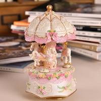 Explosion models birthday gift lantern carousel music box