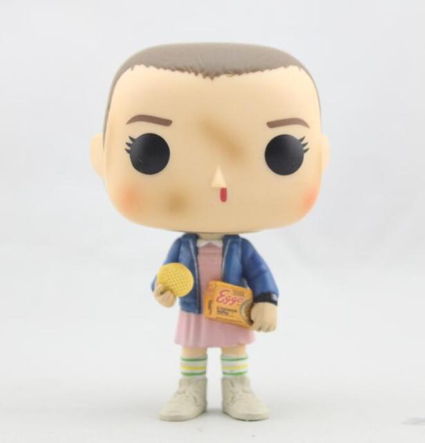 FUNKO POP  10cm Stranger Things ELEVEN WITH EGGOS Hand DEMOGORGON Action Figure Bobble Head Q Edition For Car Decoratio 1