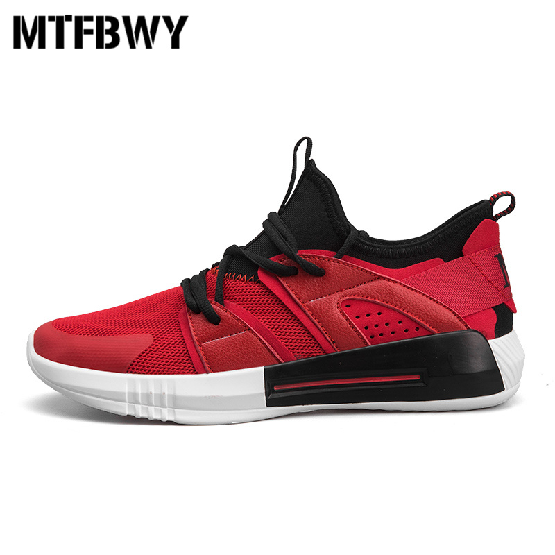 Mens sneakers new spring mesh breathable lace-up men sports shoes outdoor running shoes for male size 39-44 1801s