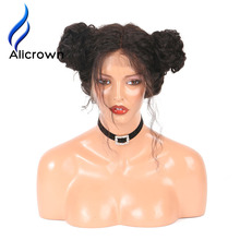 ALICROWN Glueless Silk Base Full Lace Human Hair Wigs For Black Women Pre-Plucked With Baby Hair Brazilian Remy Hair Wigs