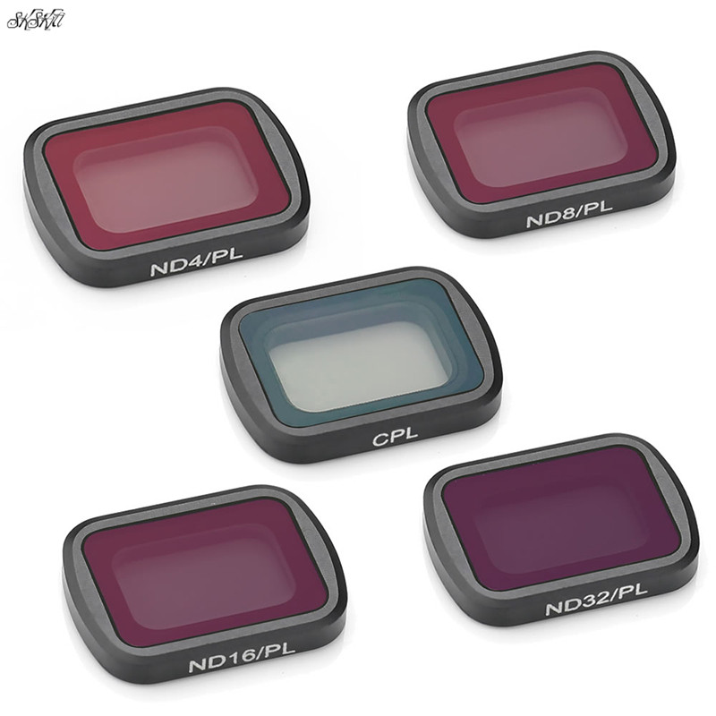 5 Pcs Osmo Pocket Lens Filters Kit ND-PL ND4 + ND8 + ND16 + ND32 + CPL Filters For DJI Osmo Pocket Camera  Gimbal Accessories