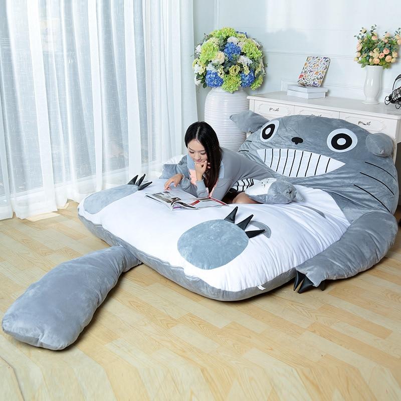 2017 Fashion Free Shipping Super Cute Cartoon Totoro Double Sleeping Bag Lazy Sofa Mattress Totoro Tatami Personalized Gift