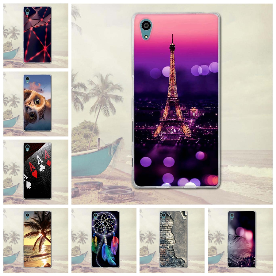 For <font><b>Sony</b></font> Xperia Z5 Cases Luxury 3D Relief Painted Back Silicon Case for <font><b>Sony</b></font> Xperia Z5 E6003 <font><b>E6633</b></font> E6653 E6683 Phone Covers Bag image