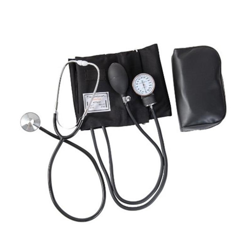 Manual Blood Pressure Monitor Aneroid Sphygmomanometer Cuff Stethoscope Kit   Meter Device Upper Arm Fonendoscopio
