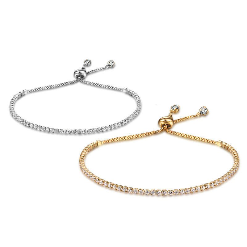 Simple Style Crystal Bracelet Women Girl Dress Accessary Ornament Bling Stone Hand Chain Gift