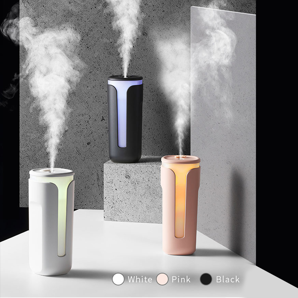 Zaiwan 260mL Mini Car Humidifier Heavy Fog Intelligent Ultrasonic Type-C Operated Cool Air Humidifier for Bedroom Office