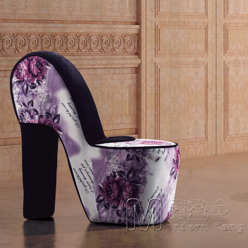 Modern European Styling Chair Positions Creative High Heels Shoes Sofa Back Personality Beanbag In Restaurant Chairs From Furniture On