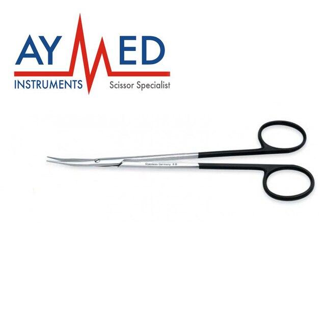12 pieces jameson supercut scissors curved dissecting fine tissue
