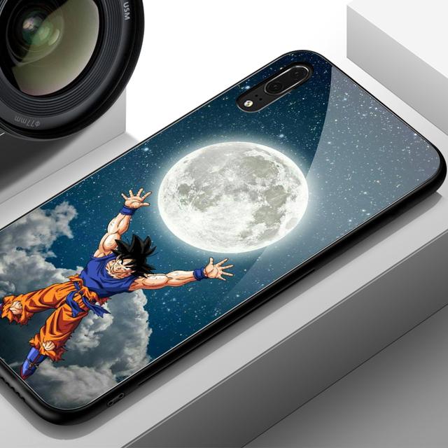 Dragon Ball Super Saiyan Tempered Glass Case for Huawei