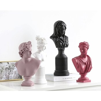 32-45cm David Aphrodite Venus Victory Goddess Blessed Virgin Mary Bust Statues Resin Art&Craft Home Decoration Accessories R120