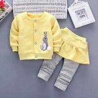 Baby Clothing Sets New Spring Autumn Baby Boys Girls Clothes Rabbit Single Breasted Shirt Pants 2Pcs