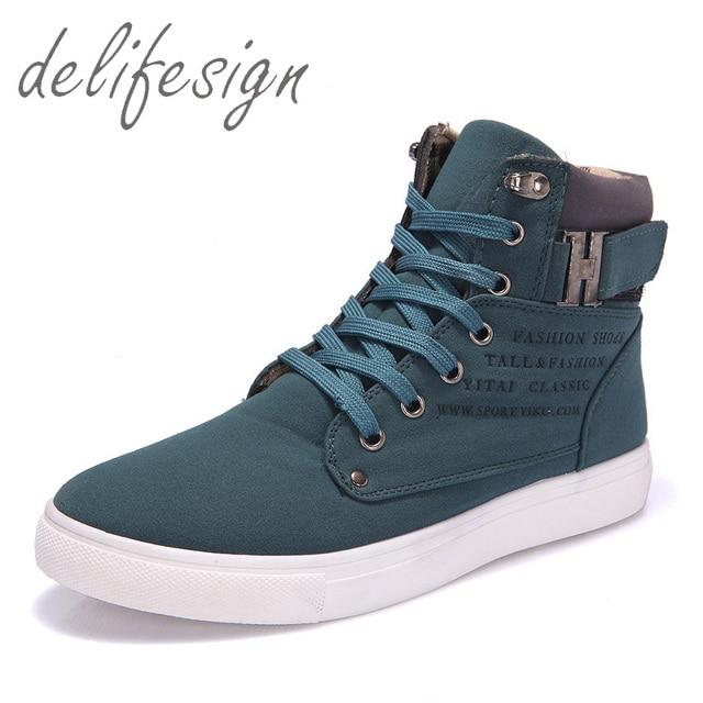 2d655aa377 2016 Homens Quentes Sapatos Sapatos Tenis masculino Masculino Moda Homens  Sapatos de Couro Casual de Alta