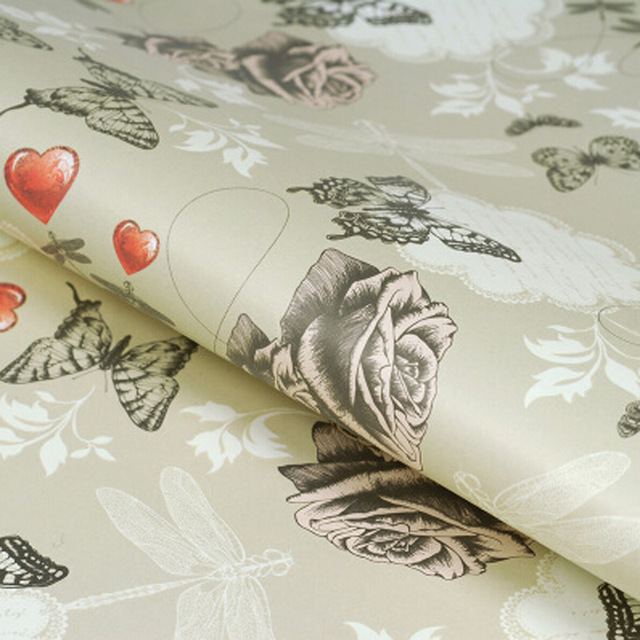 Wrapping paper fancy heart flowers bouquet packing paper decorative wrapping paper fancy heart flowers bouquet packing paper decorative wrapping paper book packing material 52 mightylinksfo