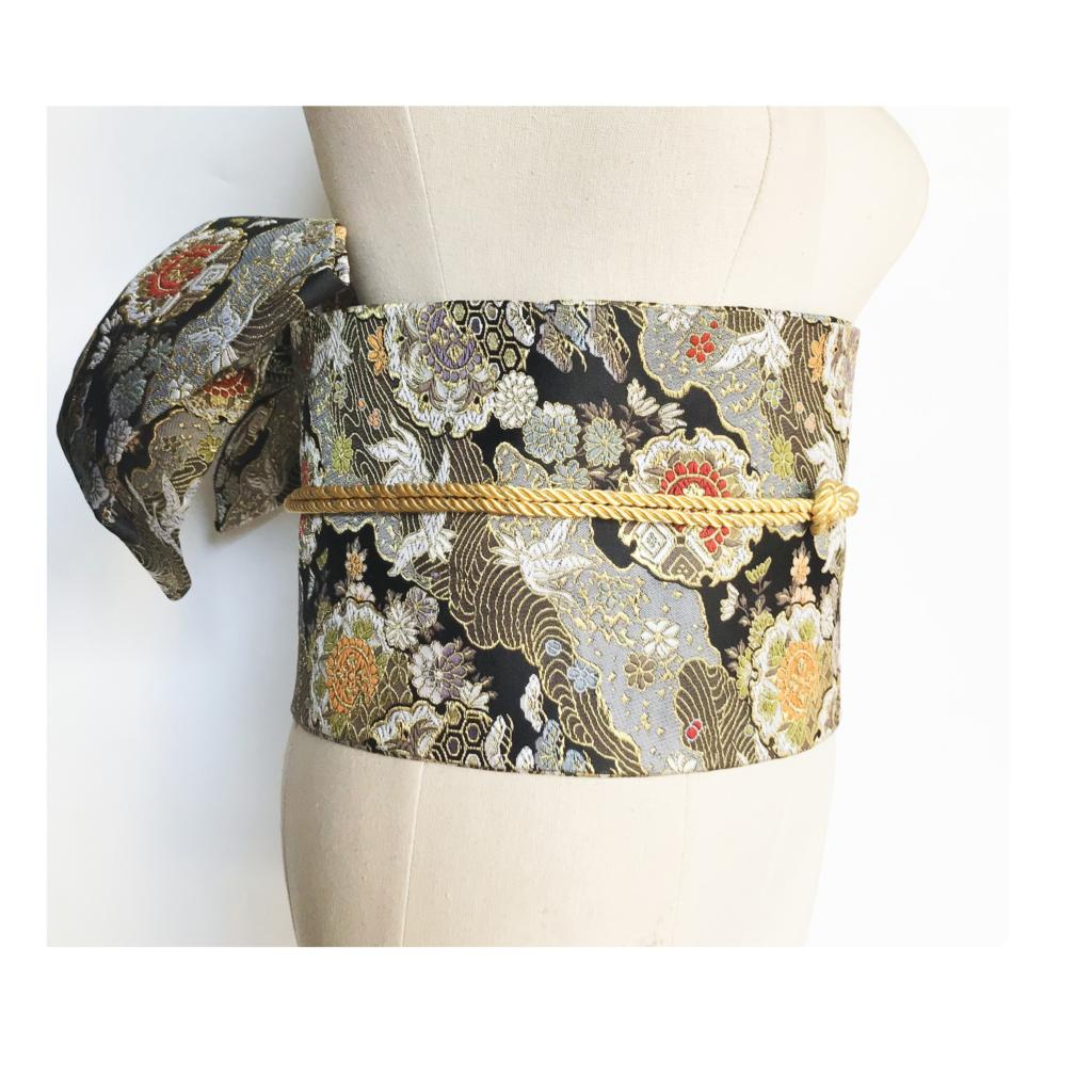 2019 Kimono Accessories Styling Jacquard Large Bow Waist Belt