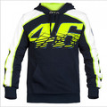 2016 New MOTO GP Valentino Rossi Racing Jackets The Doctor VR46 Hoodies Cotton Motorcycle VR 46 Black Hooded Sweatshirts Fleece