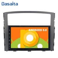 Car 1 Din 9 Touch Screen Android 9.0 Radio for Mitsubishi Pajero V97 V93 2006 2007 2008 2009 2011 Car Stereo 16GB ROM GPS
