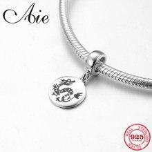 bd1685a4e Hot 925 Sterling Silver cute 12 Chinese Zodiac dragon fine Pendants beads  Fit Original Pandora Charm Bracelet Jewelry making