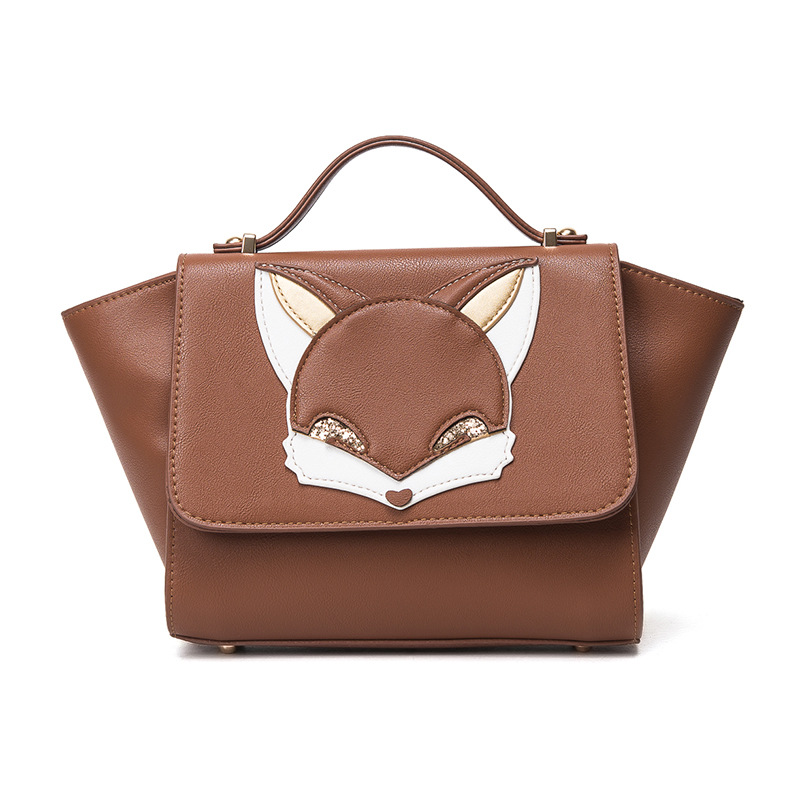 2017 New fashion lady Fox handbags cartoon bag owl fox shoulder bags women messe