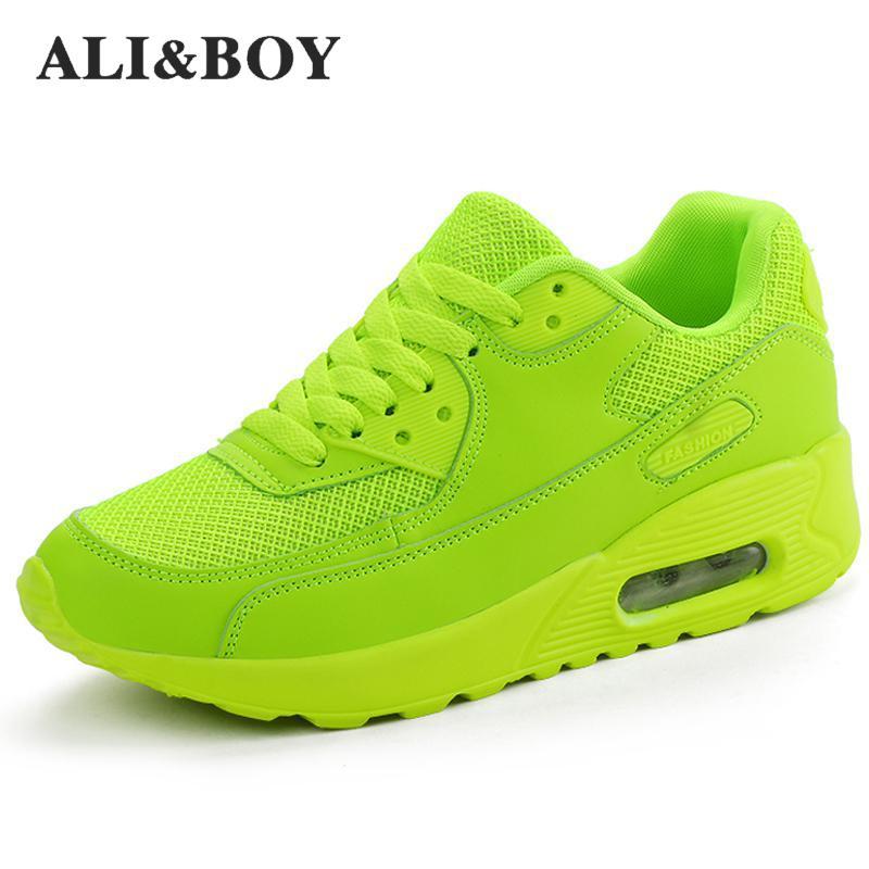 ALI&BOY Air Mesh Women Men Lightweight Outdoor Sport Running Shoes Couples Breathable Soft Athletics Jogging Sport Sneaker Shoes