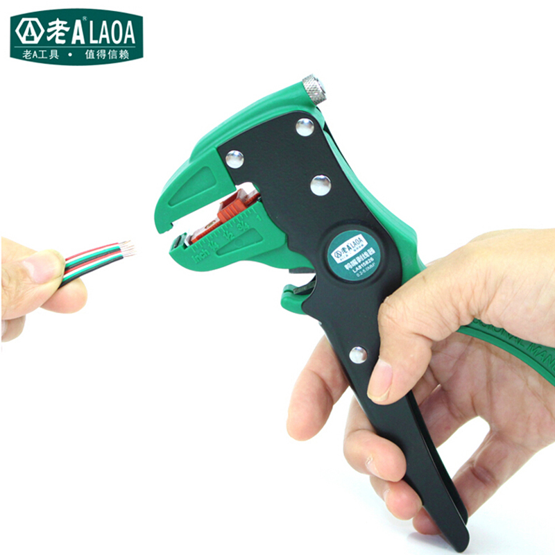 LAOA High Quality Wire Stripper Multifunction Duck Mouth Stripping Pliers Specialty Wire Stripper Made in Taiwan laoa industrial grade multifunction slip joint pliers cr mo slip joint pliers pipe wrench locking pliers wire cutter hrc58