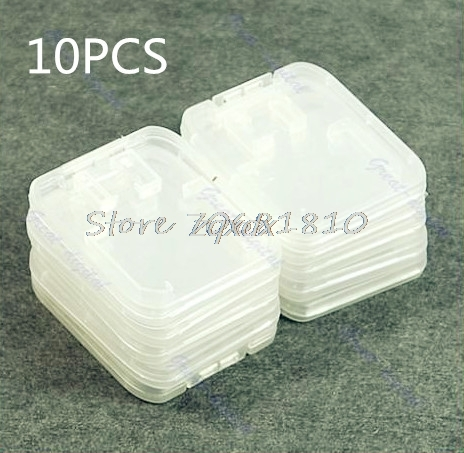 10Pcs TF Micro SD SDHC Memory Card Plastic Case White Whosale&Dropship