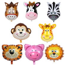1pc Tiger Zebra Cow Animal Air Helium Foil Balloon for Kids Gift Birthday Party Decoration Animal Zoo Theme Party Supplies Toys цена
