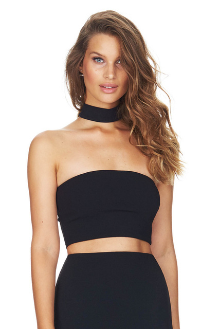 4dddaeceb4b0a Black Color Top Quality Sexy Off The Shoulder Strapless Bandage Top  Celebrity Party Bodycon Top