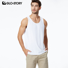 GLO-STORY 2019 Spring New Mens Casual Basic Sleeveless Shirt Singlet Bodybuilding Gym Vest MBX-8586