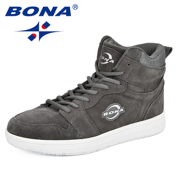 BONA High Top Sneakers Men Suede Lace Up Skateboarding Shoes Spring Autumn Classic Footwear Man Flat Outdoor Walking - discount item  34% OFF Sneakers