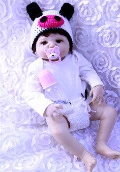 55CM Full Silicone Bebe Reborn Baby girl boy Dolls for Child Bath Shower Bedtime Toy Real Vinyl Bebe Brinquedos Reborn Bonecas