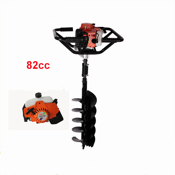 Powerful 82CC hole digging tools earth auger drilling machine heavy-duty digging hole auger anchor powerful 71cc hot earth hole drilling machine and hand earth drill earth auger